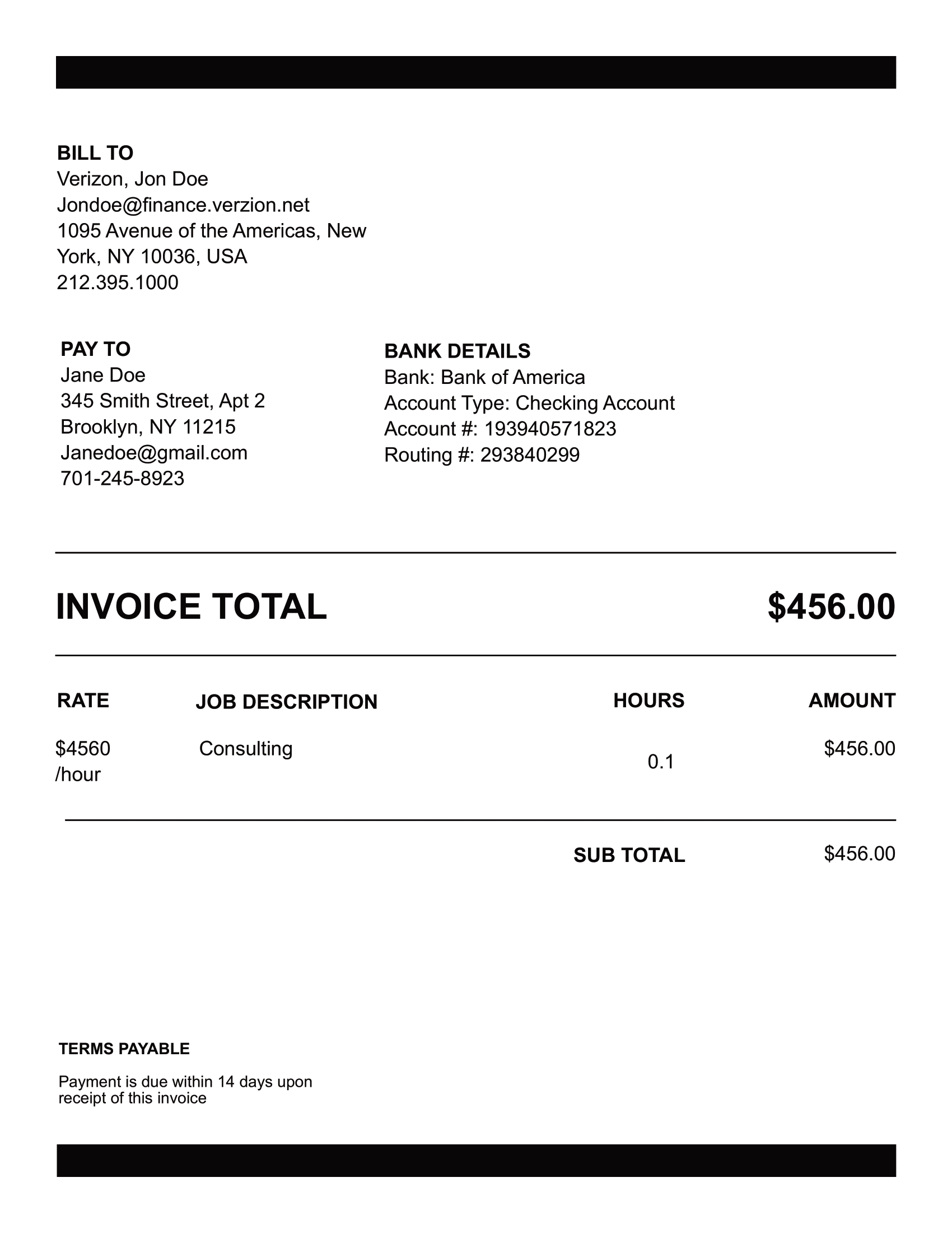 download invoice example
